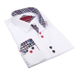 Elie Balleh Milano Italy Boy's Polyester Cotton Style Slim Fit Shirt