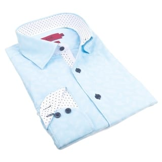 Elie Balleh Milano Italy Boy's 2016 Blue/Red/Green Cotton and Polyester Slim Fit Shirt|https://ak1.ostkcdn.com/images/products/12650240/P19439316.jpg?impolicy=medium