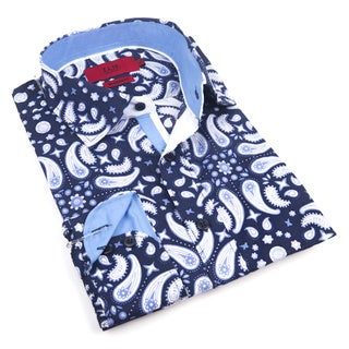 Elie Balleh Milano Italy Boy's Blue Cotton Style Slim Fit Shirt