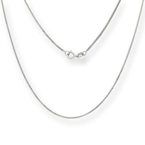 14k White Gold 0.8-millimeter x 16-20 inch Foxtail Chain