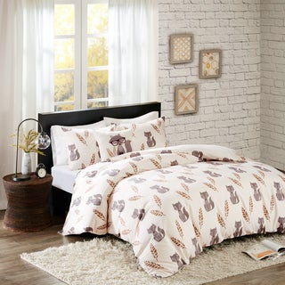 HipStyle Todd Cotton Printed 4-piece Duvet Cover Set