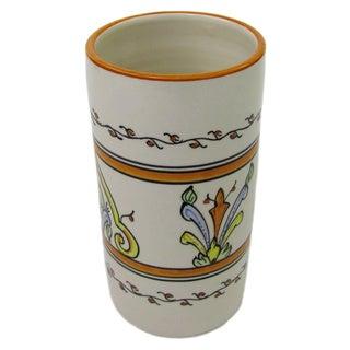 Handmade Stoneware Salvena Utensil/ Wine Holder (Tunisia)