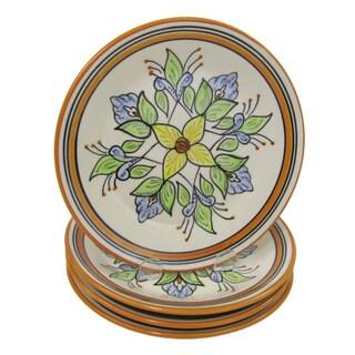 Handmade Set of 4 Stoneware Salvena Side Plates (Tunisia)