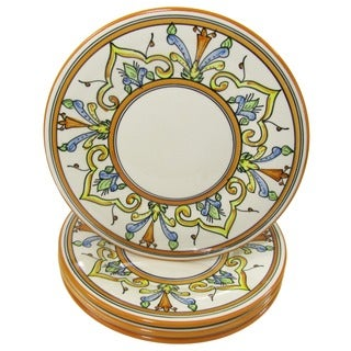 Set of 4 Stoneware Salvena Dinner Plates (Tunisia)