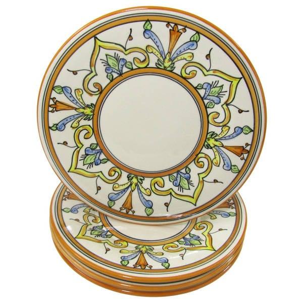 225 & Shop Handmade Set of 4 Stoneware Salvena Dinner Plates ...