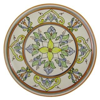 Le Souk Ceramique 'Salvena' Round Stoneware Platter (Tunisia)
