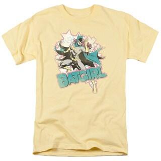 DC/I'M Batgirl Short Sleeve Adult T-Shirt 18/1 in Banana