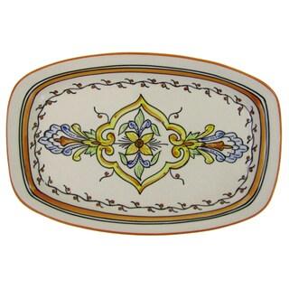 Le Souk Ceramique Salvena Rectangular Stoneware Platter (Tunisia)