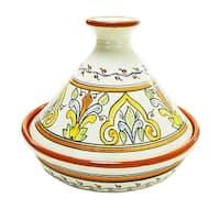 Handmade Le Souk Ceramique 'Salvena' Cookable Tagine (Tunisia)