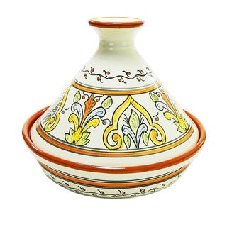 Handmade Le Souk Ceramique 'Salvena' Cookable Tagine (Tunisia)
