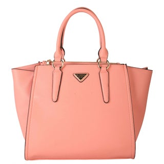 MELLECOCO Saffiano PU Leather Multi-spaced Design Structured Tote Bag