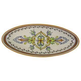 Le Souk Ceramique 'Salvena' Extra Large Stoneware Oval Platter (Tunisia)
