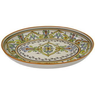 Stoneware Salvena Poultry Platter (Tunisia)