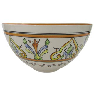 Stoneware Salvena Deep Salad Bowl (Tunisa)