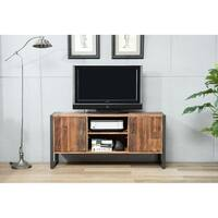Crawford & Burke Ruffalo Wood/ Metal TV Stand