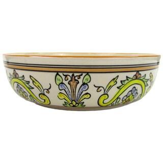 Le Souk Ceramique Salvena Wide Stoneware Salad/ Pasta Bowl (Tunisia)