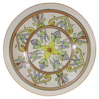 Handmade Le Souk Ceramique 'Salvena' Large Stoneware Serving Bowl (Tunisia)