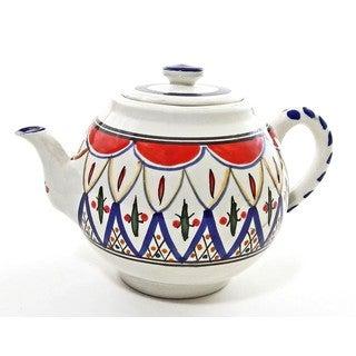 Handmade Le Souk Ceramique 'Tabarka' Stoneware Teapot (Tunisia)