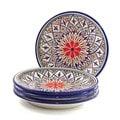 Set of 4 Le Souk Ceramique 'Tabarka' Stoneware Side Plates  (Tunisia)