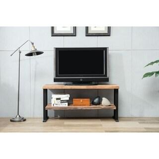 Duke Reclaimed Wood Open Shelf TV Stand