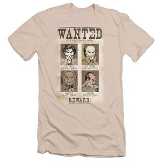 DC/Wanted Poster Short Sleeve Adult T-Shirt 30/1 in Cream