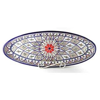 Le Souk Ceramique 'Tabarka' Extra Large Stoneware Oval Platter (Tunisia)