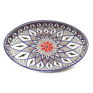 Le Souk Ceramique 'Tabarka' Stoneware Poultry Platter (Tunisia)