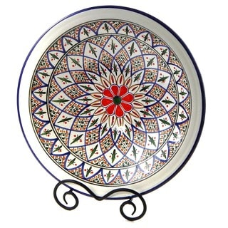 Le Souk Ceramique 'Tabarka' Medium Stoneware Serving Bowl (Tunisia)