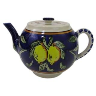 Le Souk Ceramique 'Citronique' Stoneware Teapot (Tunisia)