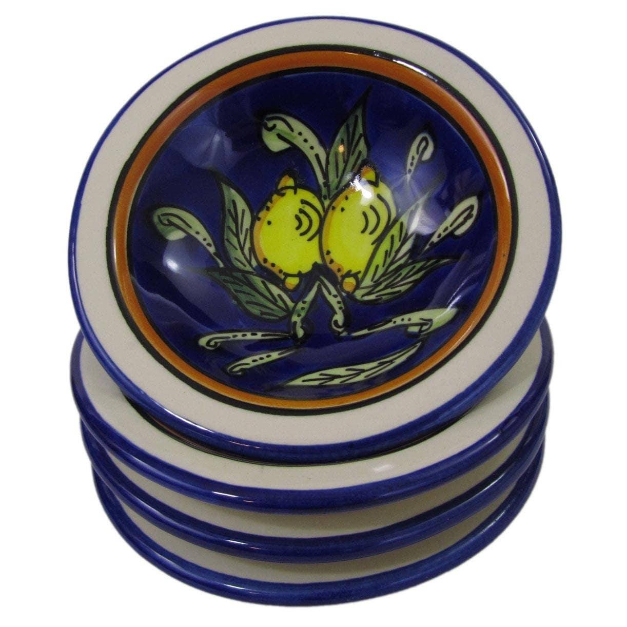 Handmade Set of 4 Le Souk Ceramique Citronique Design Rou...
