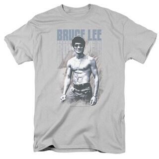 Bruce Lee/Blue Jean Lee Short Sleeve Adult T-Shirt 18/1 in Silver