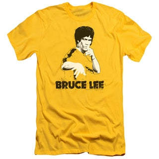 Bruce Lee/Suit Splatter Short Sleeve Adult T-Shirt 30/1 in Yellow