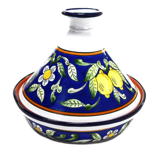 Handmade Le Souk Ceramique Citronique Design Cookable Tagine 30 Tunisia