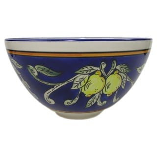 Le Souk Ceramique 'Citronique' Deep Stoneware Salad Bowl
