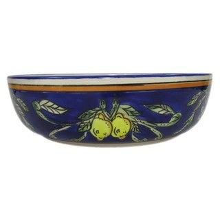 Le Souk Ceramique 'Citronique' Wide Stoneware Salad/ Pasta Bowl