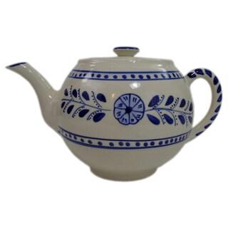 Le Souk Ceramique Azoura Design Stoneware Teapot (Tunisia)