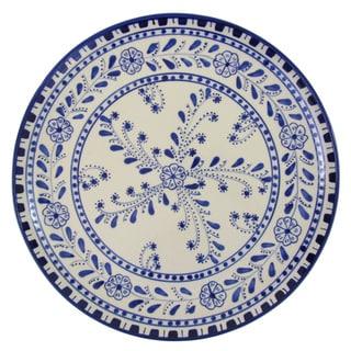 Le Souk Ceramique Azoura Design Round Stoneware Platter (Tunisia)