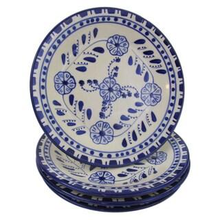 Set of 4 Le Souk Ceramique Azoura Stoneware Side Plates (Tunisia)