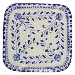 Le Souk Ceramique Azoura Square Stoneware Platter (Tunisia)