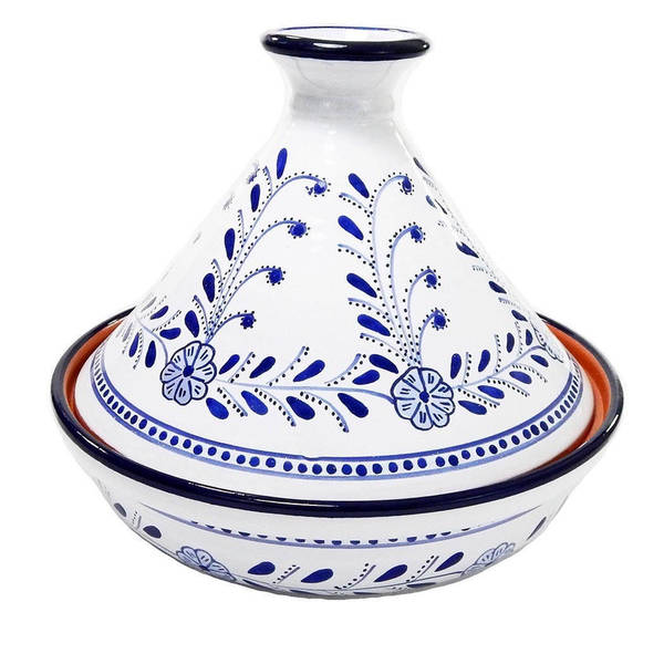 Handmade Le Souk Ceramique Azoura Design Cookable Tagine 30 Tunisia