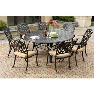 sets for outdoor umbrella chairs square dining piece designs brown beige set table folding with patio