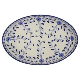 Le Souk Ceramique Azoura Stoneware Poultry Platter (Tunisia)
