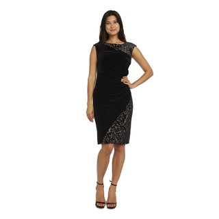 R&M Richards Black/Beige Short Dress