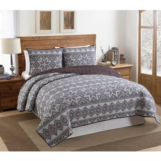 VCNY Fair Isle 3 Piece Quilt Set