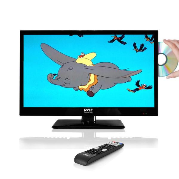 Shop Pyle Ptvdled19 185 Inch Led Hd Flatscreen Tv With Built In Cd