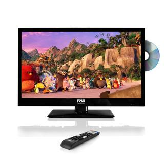 Pyle PTVDLED24 23.6-inch HD Flat Screen Black LED TV with Built-in CD/DVD Player