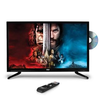 Pyle PTVDLED32 32-inch HD Black Flat-screen LED TV with Built-in CD/DVD Player Multimedia Disc Player
