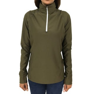 Narragansett Traders Women's Brown Fleece/Spandex Lightweight Pullover Top