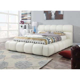 Acacia Platform Eastern King Bed, Ivory PU