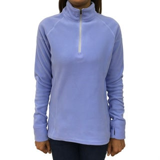 Narragansett Traders Women's Lavender Fleece 1/4-zip Lightweight Pullover